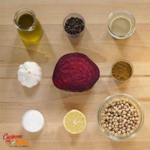 Hummus viola con verdure