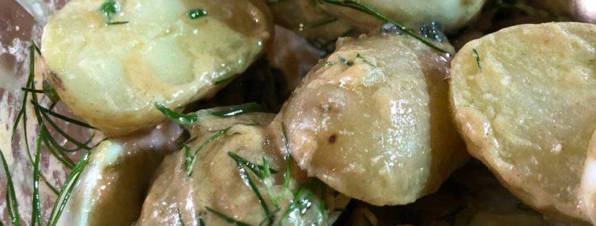 Insalata di patate e uova di quaglia