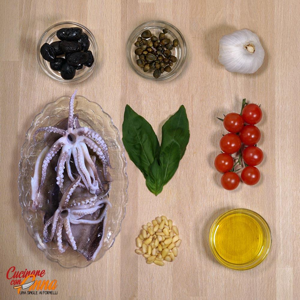 Calamari alla piastra con pesto di olive