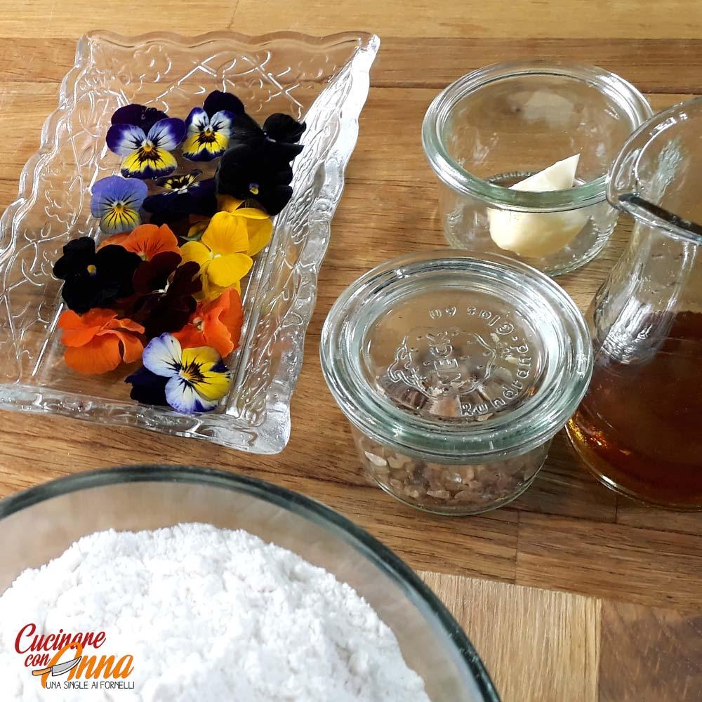 Crêpes gluten e lactose free con fiori eduli