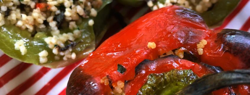 Peperoni ripieni di cous cous di mais senza glutine